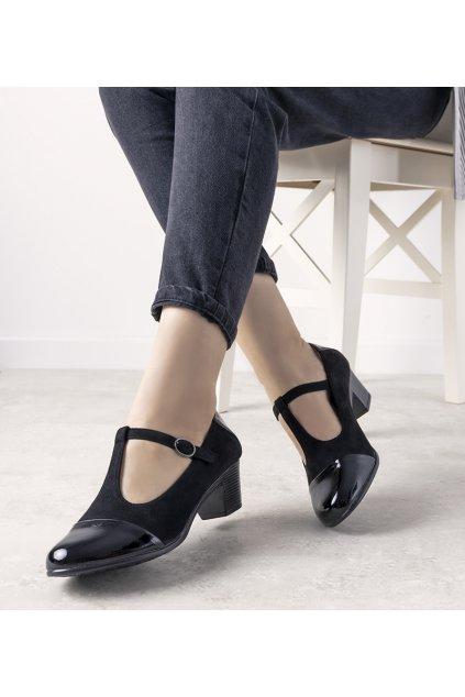 Dámske topánky lodičky čierne kód L2023-1 - GM