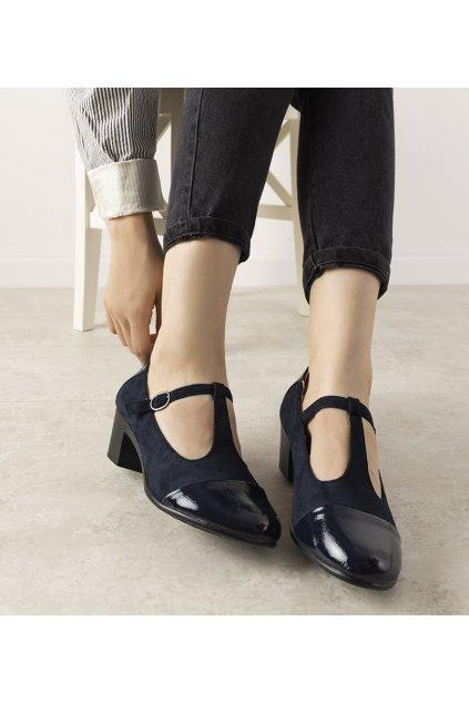 Dámske topánky lodičky modré kód L2023-11 - GM