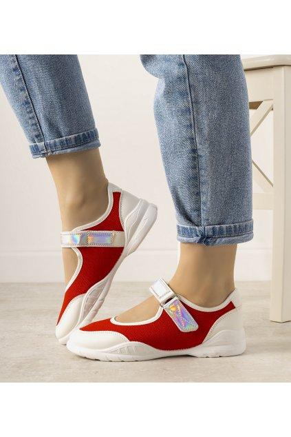Dámske topánky tenisky červené kód WH3101 - GM