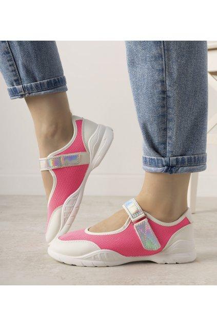 Dámske topánky tenisky ružové kód WH3101 - GM