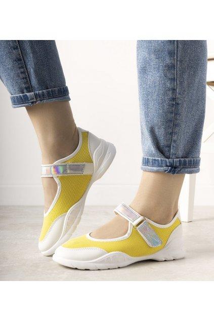 Dámske topánky tenisky žlté kód WH3101 - GM