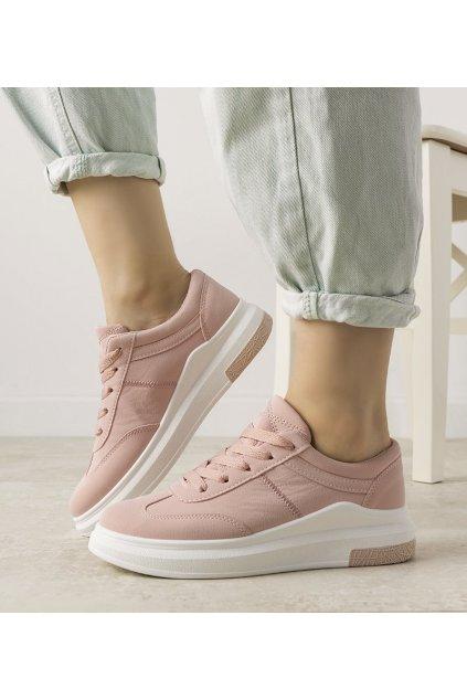 Dámske topánky tenisky ružové kód XY2691-5 - GM