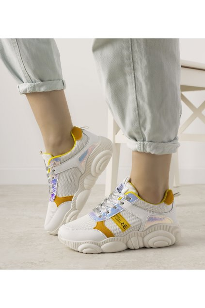 Dámske topánky tenisky biele kód XY2616-2 - GM