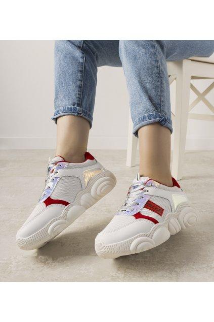 Dámske topánky tenisky biele kód XY2616-3 - GM