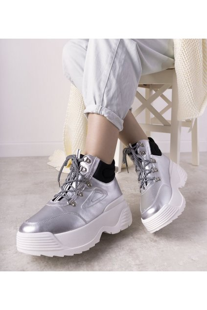 Dámske topánky tenisky sivé kód LV111-6 - GM
