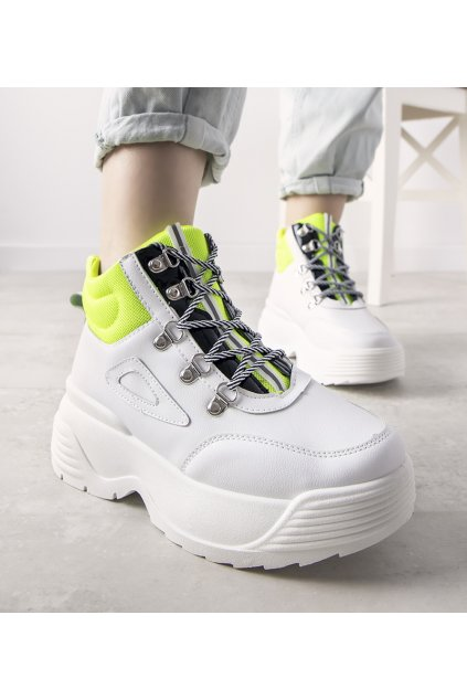 Dámske topánky tenisky biele kód LV111-10 - GM