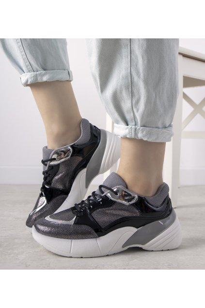 Dámske topánky tenisky sivé kód BL200P - GM