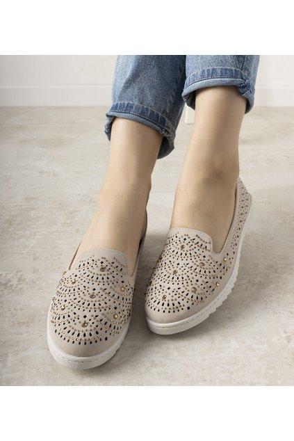 Dámske topánky mokasíny hnedé kód ZA05P - GM