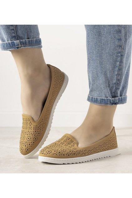 Dámske topánky mokasíny hnedé kód ZA03P - GM