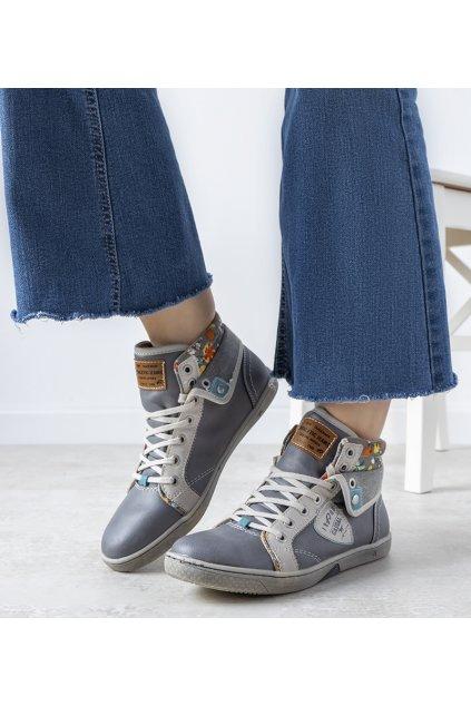Dámske topánky tenisky sivé kód S33010-2 - GM