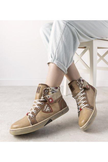 Dámske topánky tenisky hnedé kód S33010-3 - GM