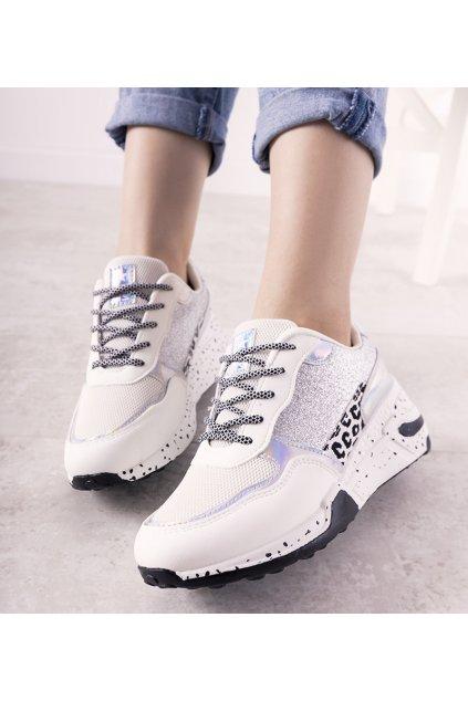 Dámske topánky tenisky biele kód 21SP26-3974 - GM