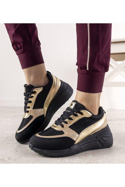 Dámske topánky tenisky čierne kód 21SP26-3975 - GM