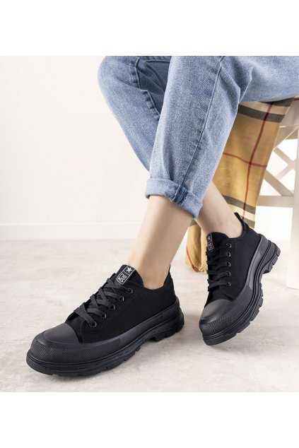 Dámske topánky tenisky čierne kód 21SP02-1400 - GM