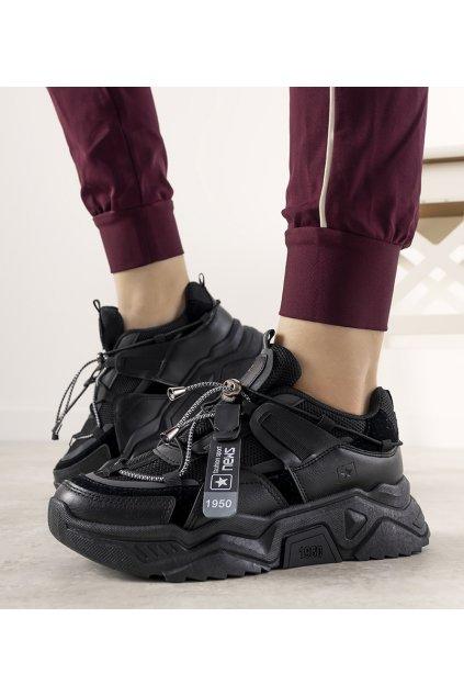 Dámske topánky tenisky čierne kód 21SP26-4394 - GM