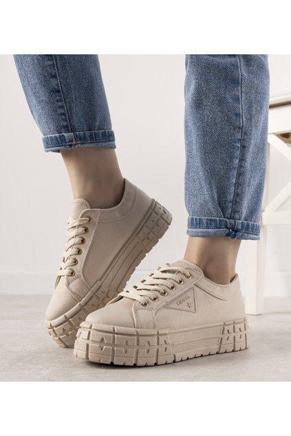 Dámske topánky tenisky hnedé kód 21SP02-1003 - GM