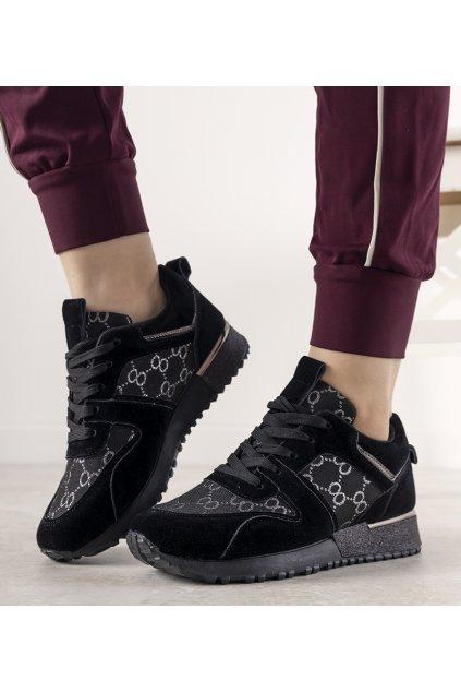 Dámske topánky tenisky čierne kód 21SP26-4392 - GM