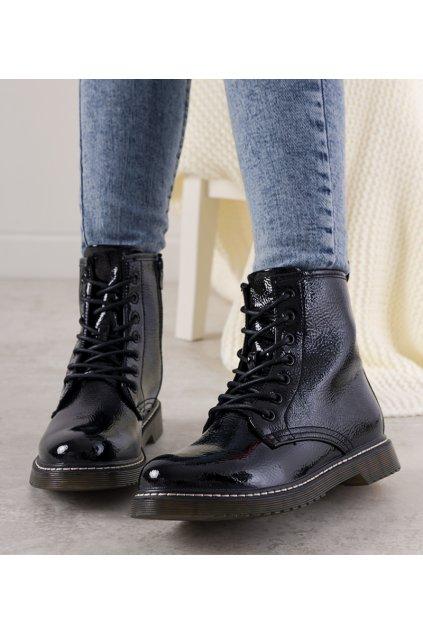 Dámske členkové topánky čierne kód 20BT35-3001 - GM