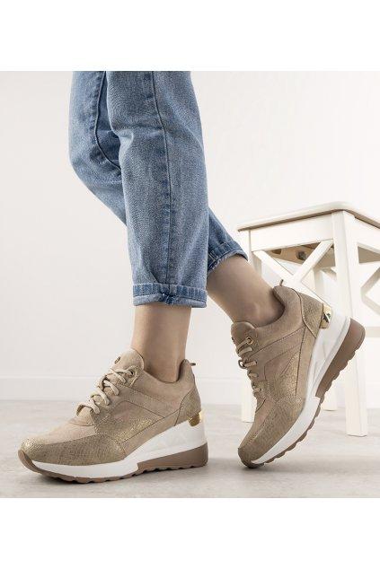 Dámske topánky tenisky žlté kód 21SP35-4390 - GM