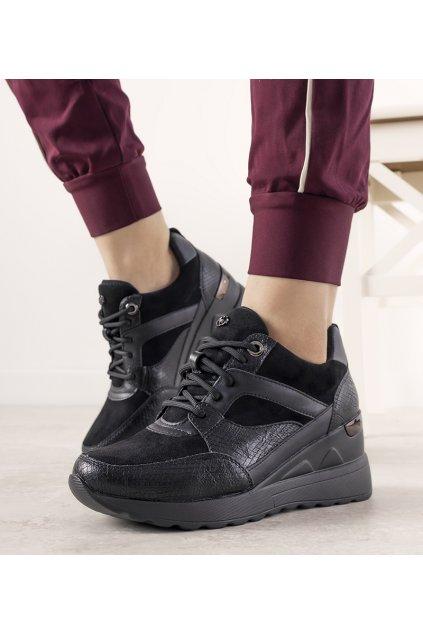 Dámske topánky tenisky čierne kód 21SP35-4390 - GM