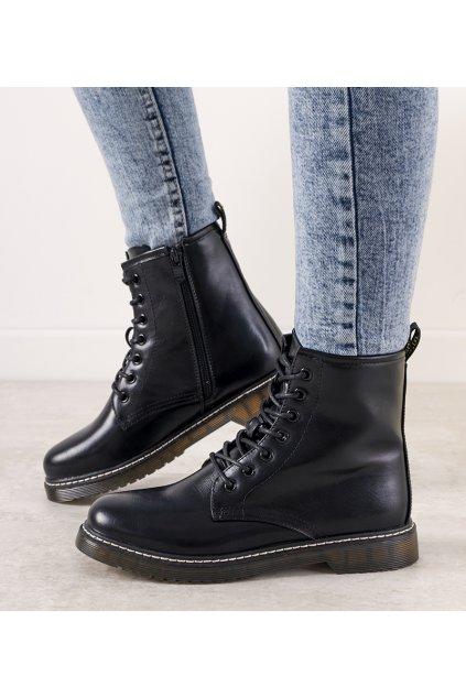 Dámske členkové topánky čierne kód 20BT35-3002 - GM