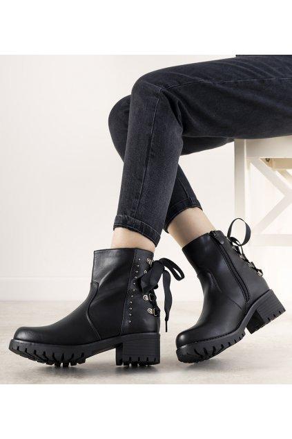 Dámske členkové topánky čierne kód DQH0252 - GM