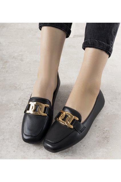 Dámske topánky mokasíny čierne kód G0-26 - GM