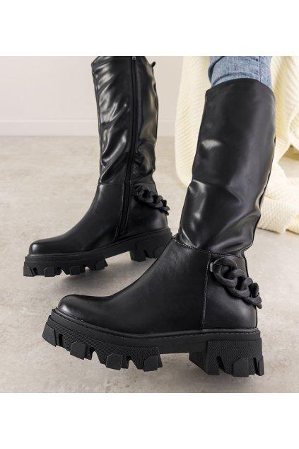 Dámske členkové topánky čierne kód 1987-H24 - GM
