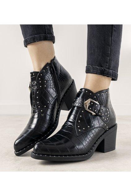Dámske členkové topánky čierne kód A-638 - GM