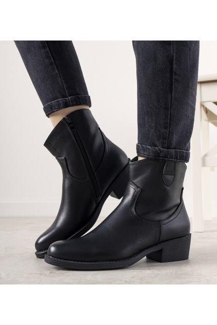 Dámske členkové topánky čierne kód 9B1109 - GM