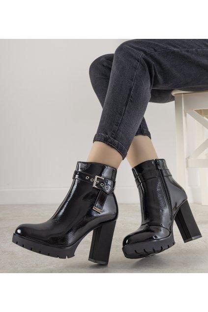Dámske členkové topánky čierne kód DF3969 - GM