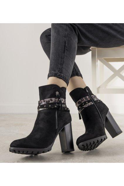Dámske členkové topánky čierne kód Z1128 - GM