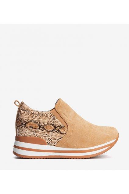 Dámske topánky tenisky oranžové kód 8161-SP - GM