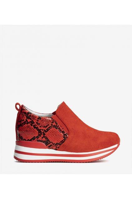 Dámske topánky tenisky červené kód 8161-SP - GM