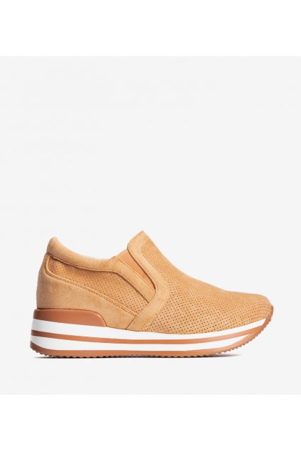 Dámske topánky tenisky oranžové kód RQ259 - GM
