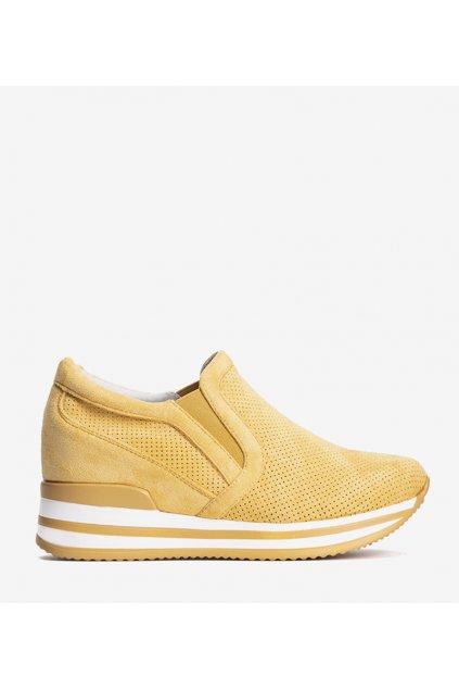 Dámske topánky tenisky žlté kód RQ259 - GM