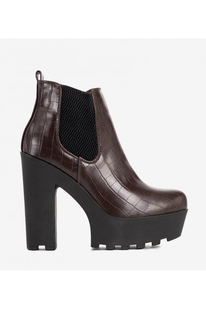 Dámske členkové topánky hnedé kód 0M293-2 - GM