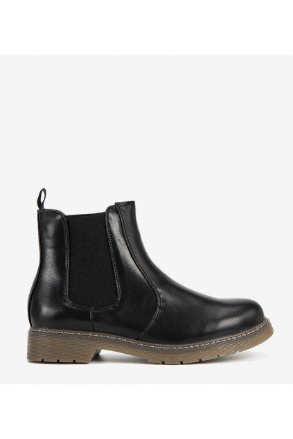 Dámske členkové topánky čierne kód 88206 - GM