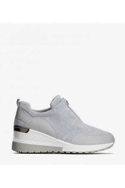Dámske topánky tenisky sivé kód N118 - GM
