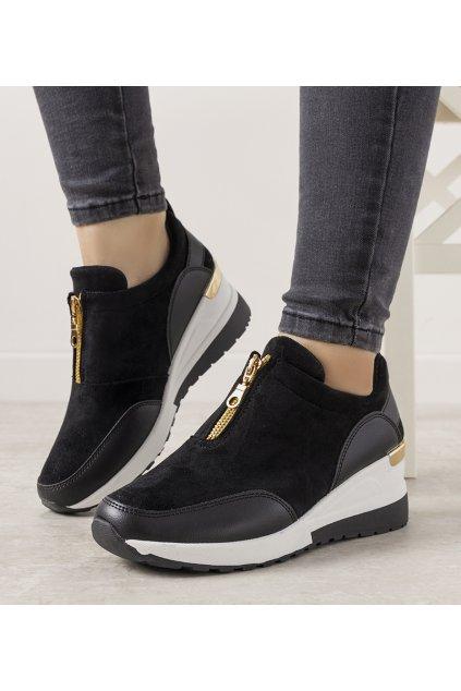 Dámske topánky tenisky čierne kód N118 - GM