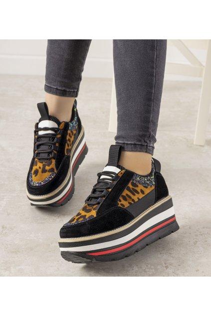 Dámske topánky tenisky čierne kód R-468 - GM