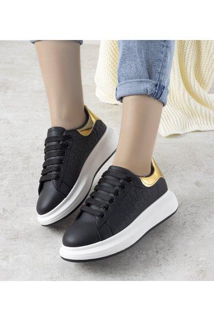 Dámske topánky tenisky čierne kód HBD29 - GM