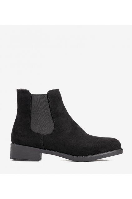 Dámske členkové topánky čierne kód LEI521 - GM
