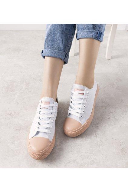 Dámske topánky tenisky biele kód B85M-1 - GM