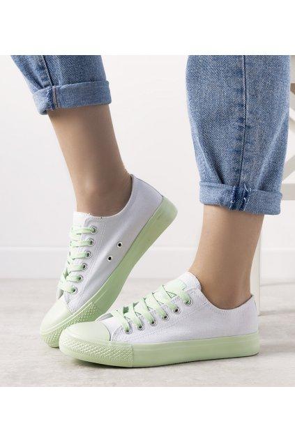Dámske topánky tenisky biele kód B85M-3 - GM