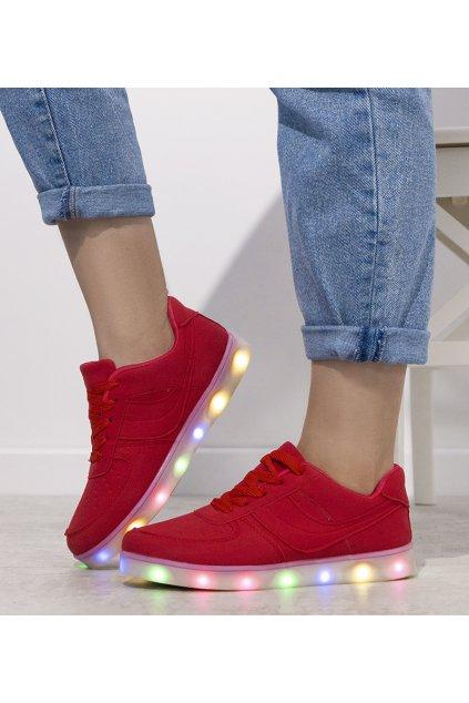 Dámske topánky tenisky červené kód B505A-9 - GM