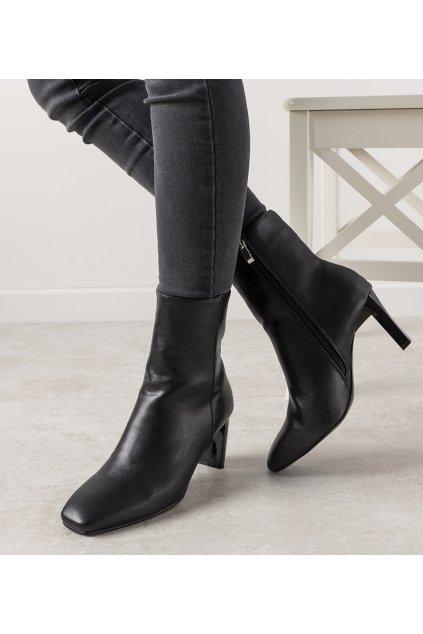 Dámske členkové topánky čierne kód KELLY-6 - GM