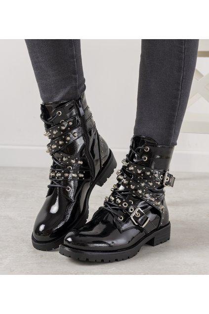 Dámske členkové topánky čierne kód JW81 - GM