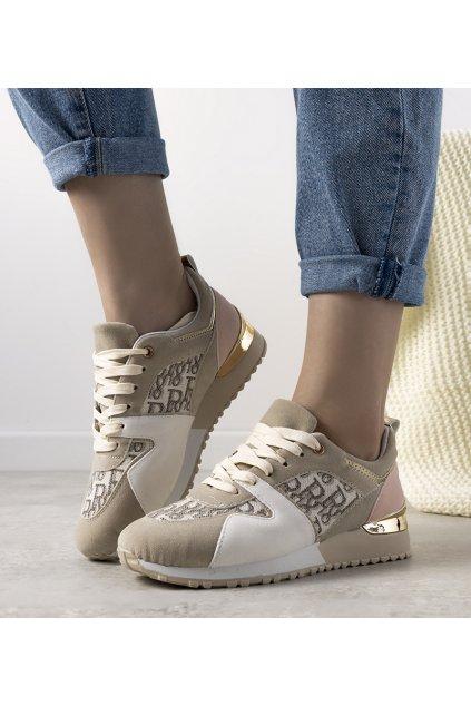 Dámske topánky tenisky hnedé kód B0-907 - GM