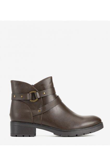 Dámske členkové topánky hnedé kód 9B1031 - GM